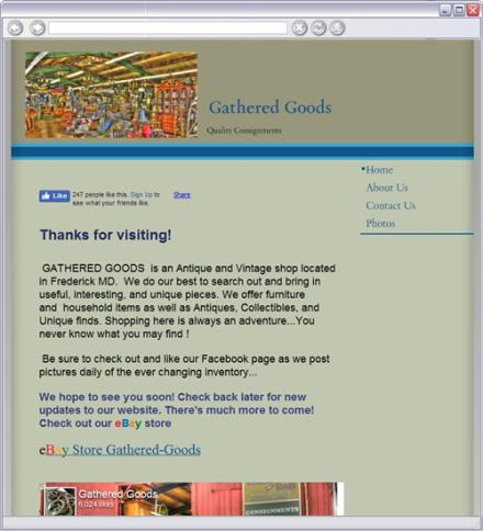 Gathered Goods Consignment / eBay Store